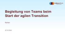 Karten Begleitung von Teams beim Start der agilen Transition